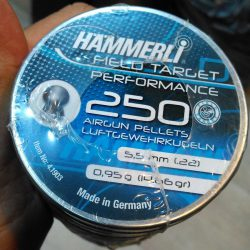 ساچمه تفنگ بادی همرلی فیلدتارگت پرفورمنس 5.5|250|14.66<br>Hammerli Field Target Performance Pellets