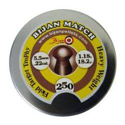 ساچمه تفنگ بادی بیژن مچ 5.5|250|18.2<br>Bijan Match Pellets