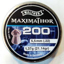 ساچمه تفنگ بادی والتر ماکسیماتور 5.5|200|21.14