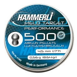 ساچمه تفنگ بادی همرلی فیلدتارگت پرفورمنس 4.5|500|8.64<br>Hammerli Field Target Performance Pellets