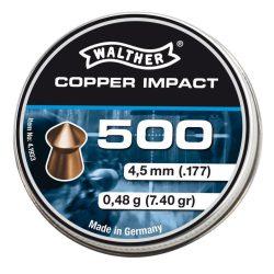 ساچمه تفنگ بادی والتر کوپرایمپکت 4.5|500|7.4<br>Walther Cooper Impact Pellets