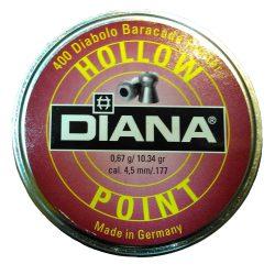 ساچمه تفنگ بادی دیانا هالوپوینت 4.5|400|10.36<br>Diana Hollow Point Pellets