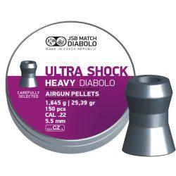 ساچمه تفنگ بادی جی اس بی آلترا شوک 5.5|150|25.39<br>JSB Ultra Shock Pellets