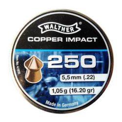 ساچمه تفنگ بادی والتر کوپرایمپکت 5.5|250|16.20<br>Walther Cooper Impact Pellets