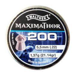 ساچمه تفنگ بادی والتر ماکسیماتور 5.5|200|21.14<br>Walther Maximathor Pellets