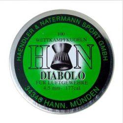 ساچمه تفنگ بادی اچ اند ان دیابولو 4.5|100|7.3<br>H&N Diabolo Pellets