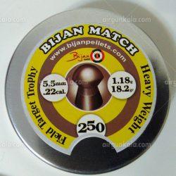 ساچمه تفنگ بادی بیژن مچ 5.5|250|18.2 | Bijan Pellets