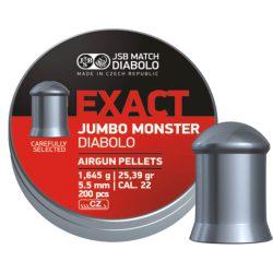 ساچمه تفنگ بادی جی اس بی اگزکت جامبو مانستر 5.5|200|25.39<br>JSB Exact Jumbo Monster Pellets