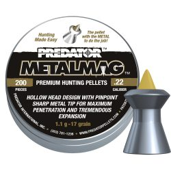 ساچمه تفنگ بادی پریدیتور متال مگ 5.5|200|17<br>Predator Metalmag Pellets