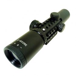 دوربین تفنگ بادی تاکتیکال چراغدار 2-6*28<br>2-6x28 Rifle Scope