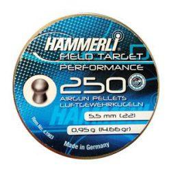 ساچمه تفنگ بادی همرلی فیلدتارگت پرفورمنس 5.5|250|14.66<br>Hammerli Field Target Performance Pellets