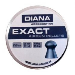 ساچمه تفنگ بادی دیانا اگزکت 5.5|250|15.9<br>Diana Exact Pellets