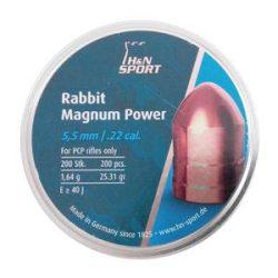 ساچمه تفنگ بادی اچ اند ان ربیت مگنوم پاور 5.5|200|25.31<br>H&N Rabbit Magnum Power Pellets