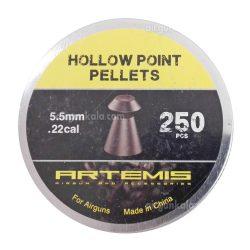 ساچمه تفنگ بادی آرتمیس هالوپوینت 5.5|250|15.59<br>Artemis Hollow Point Pellets