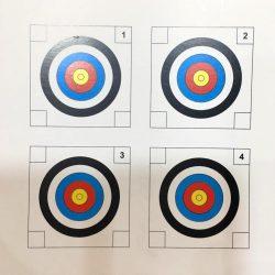 برگه سیبل رنگی مقوایی 14x14 چهار خال بسته 10 عددی